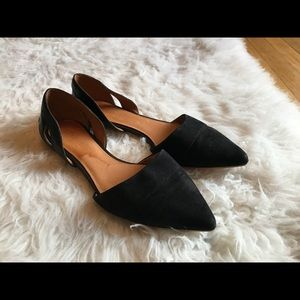 Madewell Women's Black Suede D'orsay Flats 7